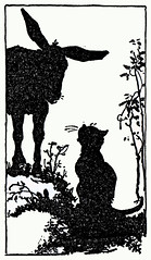 I'll give you some hay (katinthecupboard) Tags: 1920s cat silhouettes johnmartin vintagechildrensmagazine mhartwell vintagechildrensperiodical