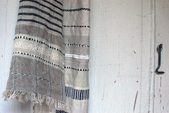 black and white (Avalanche Looms) Tags: blackandwhite white scarf linen textile cotton cloth hemp handwoven facecloth gooseeye plainweave