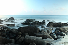 volcanic stones on jeju island (SirSam84) Tags: ocean island long exposure time stones south korea insel steine jeju volcanic vulkan langzeitbelichtung sd ozean vulkanisch