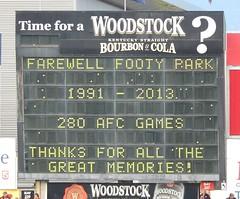 Farewell Football Park (mikecogh) Tags: football message final farewell goodbye scoreboard afl aamistadium adelaidecrows footballpark