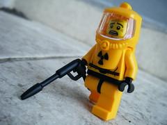 radiation panic (nuo2x2) Tags: yellow toy lego random radiation nuclear gas suit panic horror minifig leak minifigure radiationsuit nuo2x2