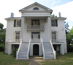 Antebellum House (rickman62) Tags: columbus chimney white house history abandoned home beautiful grass architecture stairs neglect cat mississippi dead war decay south historic confederate southern staircase plantation shutters mansion antebellum luxury disrepair