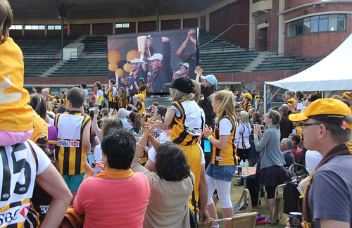 hodge and clarkson big screen Glenferrie Oval 2013 Hawks Premiers_9588