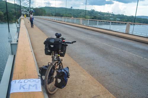 Downstream the Akosombo dam, Ghana