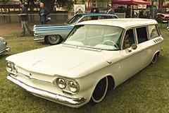 61 Corvair LakeWood (bballchico) Tags: california chevrolet wagon lakewood antioch carshow 1961 pinstripe stationwagon corvair billetproof billetproofantioch