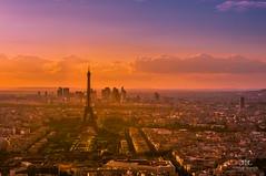 Sunset in Paris, France (Tommie Hansen) Tags: city travel sunset summer paris france tower landscape ledefrance cityscape eiffeltower nex6 tommiehansen