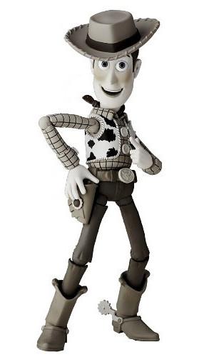 海洋堂 REVOLTECH 特攝輪轉可動 玩具總動員 伍迪 黑白配色版