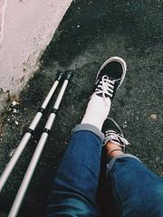 Mondays (Meixo) Tags: feet foot crutch acoruña muletas uploaded:by=flickrmobile flickriosapp:filter=nofilter