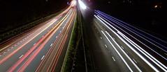 Light Trails (RDHicks86) Tags: road longexposure light lightpainting cars motorway trails headlight lighttrails streaks taillight