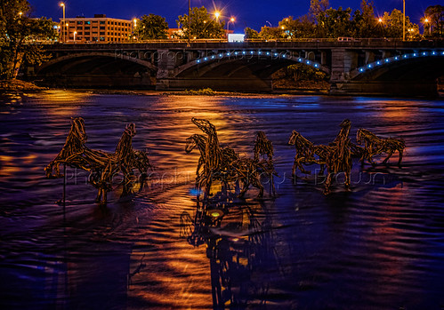 Wooden Horses on the Grand River for Art Prize 2012