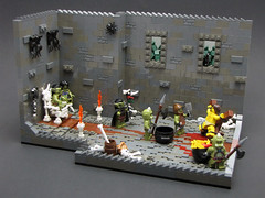Dinner and a Show (cmaddison) Tags: castle king lego medieval butcher goblin bone throne cccxi vision:outdoor=0668