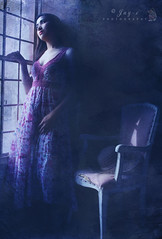 Hauntingly Waiting (Jay-c de Lente) Tags: portrait girl vintage dark gothic haunted creepy oldhouse fantasy horror haunting