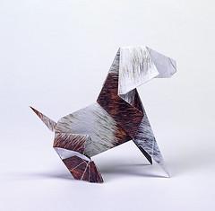 chien4Origami création - Didier Boursin - Chien