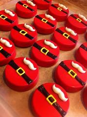 Santa Oreos (Kim's Sweet Karma) Tags: christmas santaclaus oreo chocolatedipped kimssweetkarma uploaded:by=flickrmobile flickriosapp:filter=nofilter