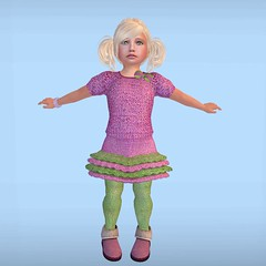 Cuties knits (Alea Lamont) Tags: baby girl kids children clothing toddler skins babies child faces mesh skin body shapes knit skirt avatars tots knitted cuties pantyhose cutest booties babie ndmd