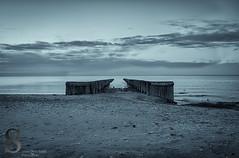 Heading out- (Singing With Light) Tags: beach sunrise photography 1 pentax january walkway boardwalk k3 2014 charlesisland ctwinter silversandsstatepark miilford singingwithlight singingwithlightphotography