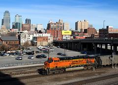 BNSF 5785 at Kansas City, MO (nsmith8853- I'm tired of shootings GE's!) Tags: city railroad train railway trains southern missouri kansas coal railfan bnsf kcs gevo