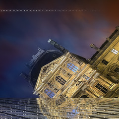 Mayday, Mayday, Mayday ... Le Louvre coule !!! ( Paris / France ) (Yannick Lefevre) Tags: city sunset paris france reflection glass museum architecture photoshop mirror nikon raw nef cityscape nightshot pyramid louvre tripod wideangle muse reflet pyramide dri batiment manfrotto d300 sigma1020 nikoncapturenx capturenx2 yllogo yannicklefevre||photography