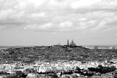Sacre-Cur from the Eiffel Tower (alpinestranger) Tags: paris france basilica eiffeltower montmartre latoureiffel champdemars fr 2012 s100 theironlady ladamedefer sacrecurbasilica basilicaofthesacredheartofparis 52260mm