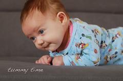 3-04-TummyTime (xtheowl) Tags: baby bald tummy mickeymouse baldricks tummytime 2014 handmedowns stbaldricks