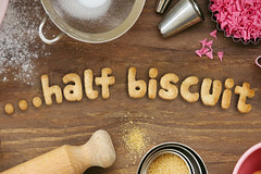 ...half biscuit (Leo Reynolds) Tags: cookie biscuit wrting 0sec hpexif webthing photofunia xleol30x cookiewriting xxx2014xxx