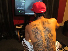 BACK TATTOOS (HARD HITTA) Tags: red music tattoo ink xbox tattoos tatted mw3 backtattoos nicetattoos musictattoos moneytattoo hardhittabacktattoo hardhittatattoo hardhittatattoos hardhittabacktattoos