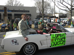 zombie prom queen and king (Just Back) Tags: street party silly green sc car goofy st dead fun death day ride absurd zombie joke saturday columbia parade queen creepy riding prom undead patricks corpse devine gamecocks mustand hokie