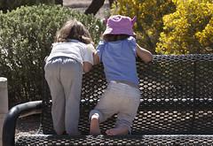 Something of Interest!!! ; Catalina, AZ  [Lou Feltz] (deserttoad) Tags: park cute children behavior humaninterest