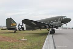 N74589 - 1942 build Douglas DC-3C/C-47A Dakota, with D-Day invasion stripes seen at Sun'N Fun 2013 (egcc) Tags: id n douglas dc3 lakeland dakota c47 lal gooneybird klal sunnfun linder gooney 2013 9926 dc3c r1830 dc3cs1c3g 224064 n74589 4224064 dixiejetservices