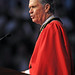 Board of Trustees chair Ben Jenkins tells graduates to show off their Wolfpack