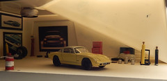 Lotus (Elan) Plus 2 In The Garage. (Man of Yorkshire) Tags: macro cars sports car model lotus garage workshop plus elan diorama diecast 176 oogauge oxforddiecast blinkagain lotusplus2 customcarsgarage