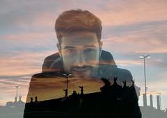 A sunset under the influence. (Jorge Jam) Tags: barcelona boy sunset film analog 35mm canon spain doubleexposure