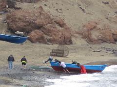 El Burrero (Risager) Tags: sea beach boat fishermen menatwork fishingboat grancan elburrero