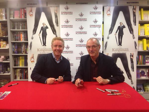Mark Millar and Dave Gibbons signing Kingsman The Secret Service