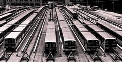 Marta Depot (Daryl O'Hare Photography) Tags: city atlanta blackandwhite bw train tracks trains wires depot marta