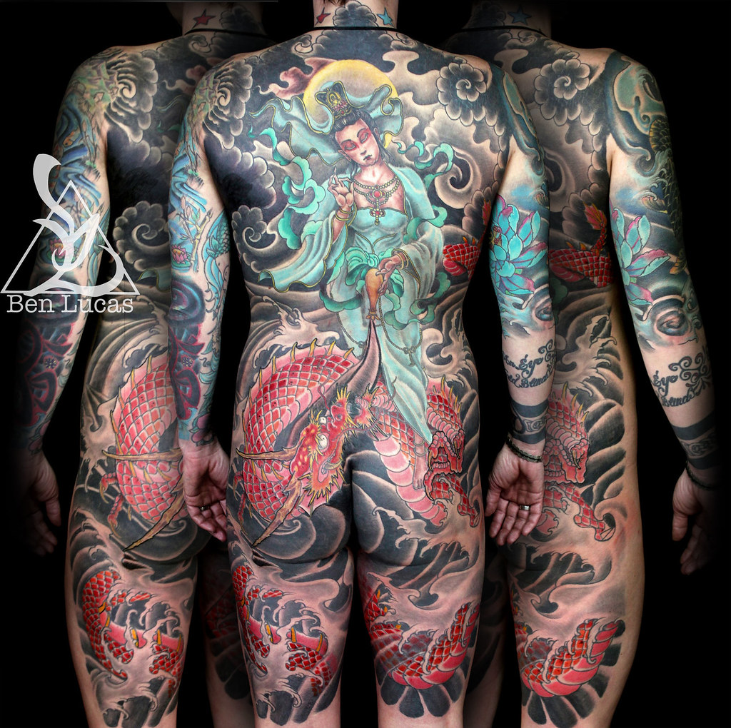 The world 39 s best photos of backpiece and dragon flickr for Jade dragon tattoo