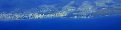 #8771 Waikiki to Diamond Head (Nemo's great uncle) Tags: plane hawaii waikiki oahu aerial  oahu  hi honolulu ha boeing  hnl windowseat koa  hawaiianairlines b717  ha257
