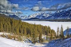 "Kananaskis Lower Lake ""Explored"" (John Andersen (JPAndersen images)) Tags: winter mountain snow sunrise peak alberta indefatigable kananaskisrange kananaskislake gehertyspoint"