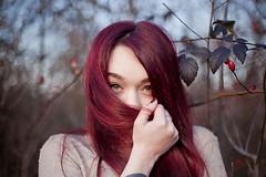 (Stefano☆Majno) Tags: red portrait love beauty hair photography eyes hand sensual redhead noface shooting tone giulia stefano feral covering tattoed majno