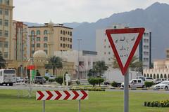 IMG_0016.jpg (svendarfschlag) Tags: street mountain sign cross uae emirates arab corniche emirate unitedarabemirates fujairah khorfakkan خورفكان gulfofoman golfvonoman fudschaira chaurfakkan vereinigtenarabischenemiraten chūrfakkan