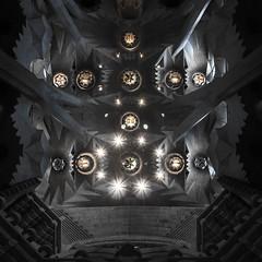The Face of the Apostles (JJ Photog) Tags: barcelona family roof white man black church face familia architecture weird spain support catholic cathedral symbol roman basilica religion ceiling christian holy gaudi manmade christianity symbols pillars sagrada antoni apostles expiatory