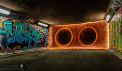 Willows Bass Bin (dattenphotos) Tags: street art wool night underground graffiti steel tunnel colourful