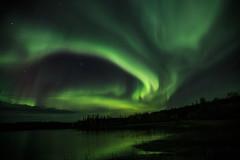 Yellowknife lights (Luc Stadnik) Tags: light canada reflection green night nwt aurora northernlights yellowknife