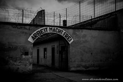 Arbeit Macht Frei (A.Nilssen Photography) Tags: camp bw white black fence konzentrationslager gate entrance prison theresienstadt kl mala kz lager concentrationcamp gestapo terezin arbeitmachtfrei smallfortress pevnost