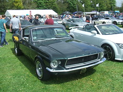 Ford Mustang (Bennydorm) Tags: auto england black ford car automobile american vehicle americana motor fordmustang iconic sporty motorshow kendal crooklands