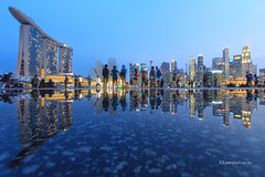 After the Rain (LemjayLucas) Tags: city longexposure reflection skyscraper singapore cityscapes bluehour sg mbs marinabay lioncity marinabaysands lemjaylucas lemjaylucasphotography lemjaylucastravels lemjaylucasarchitecture lemjaylucasnightscapes
