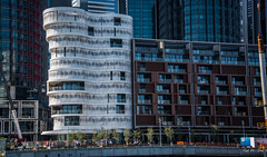 2016 - Sydney - Condo in White (Ted's photos - For Me & You) Tags: street windows architecture buildings nikon streetlight crane balcony sydney australia streetscene condo highrise cropped fencing constructioncranes vignetting railings barricade 2016 sydneyau tedmcgrath tedsphotos nikonfx nikond750
