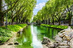 Die Königsallee in Grün (Frank Lammel) Tags: 2016 ausflüge düsseldorf fototour grün kö königsallee summer green nrw citscape city germany europe
