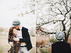 Blossom (Yuliya Bahr) Tags: flowers wedding portrait white tree love girl smile hat engagement hug diptych kiss couple soft blossom farm gray together brandenburg tender appletree happe hochzeitsfotografhamburg hochzeitsfotografberlin hochzeitsfotografkassel hochzeitsfotografmnchen hochzeitsfotografbrandenburg hochzeitsfotografpotsdam