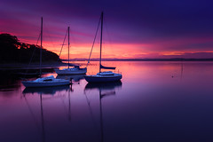 River Almond Sunset (roseysnapper) Tags: canoneos40d firthofforth riveralmond sigma1020 cramond edinburgh scotland boat calm peace purple reflection river still sunset tranquil yacht outdoor landscape seascape water dusk sky colour color shore sail sailboat smooth